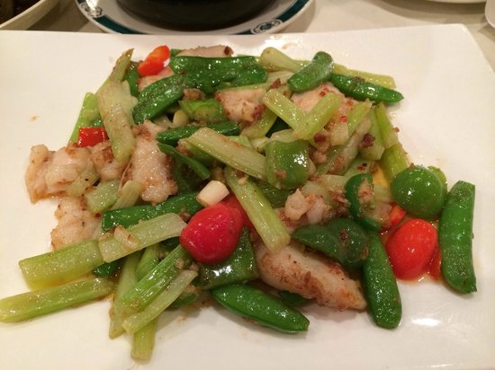 Wong's King Seafood Restaurant: X O sauce with cod filet