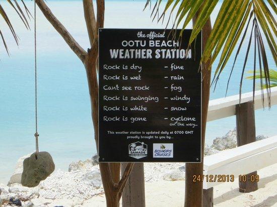 Aitutaki Village: Weather Station!!