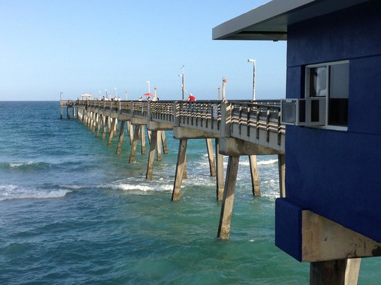 Quarterdeck Seafood Bar & Gril: Great view from the deck at the Quarterdeck.
