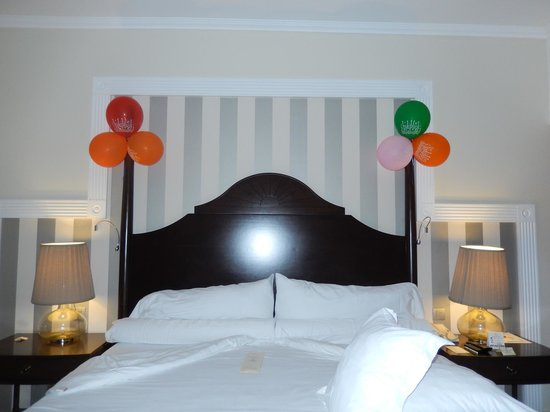 Iberostar Grand Hotel Rose Hall : room decorated by staff for husband's birthday