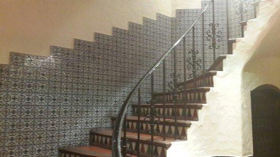 Hotel Salta: Sevillano ceramics line the walls and staircases