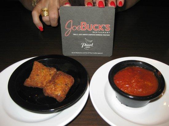 J. Buck's: Fried ravioli, Joe Buck's BBQ, St. Louis, MO