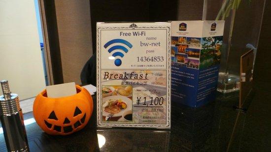 BEST WESTERN Hotel Fino Osaka Shinsaibashi: wifi any1?