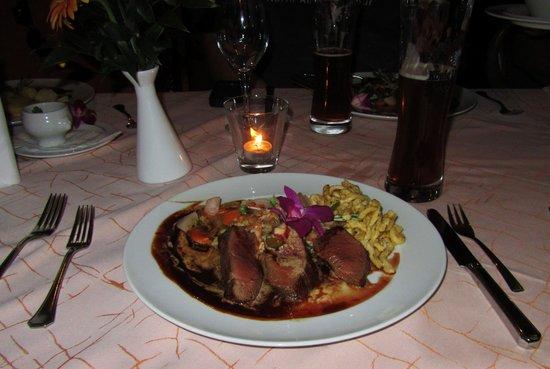 Hotel Bibermuehle: Venison... Delicious!