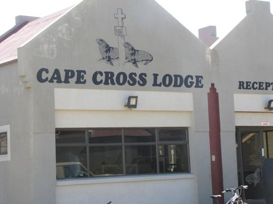 Cape Cross Lodge: The reception area from the outside
