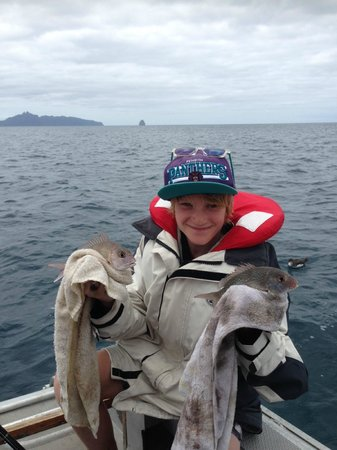 Mangawhai Heads Holiday Park: plentiful fishing is just one of the things to do.