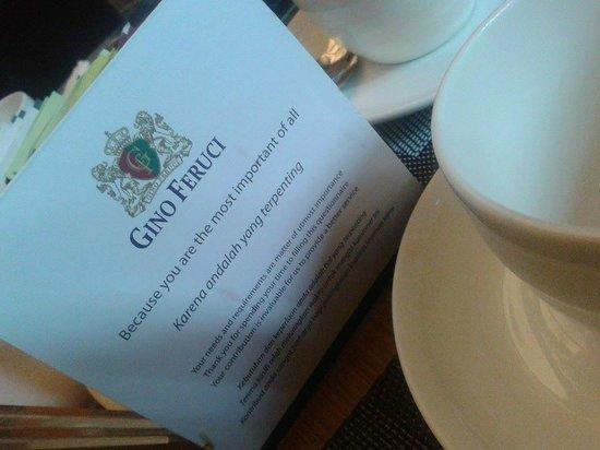 Gino Feruci Kebonjati Bandung: restaurant