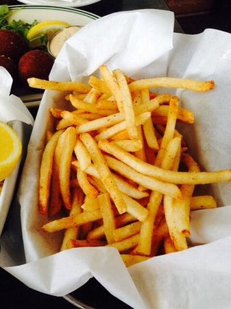 Sam's Chowder House: french fries with old bay seasoning