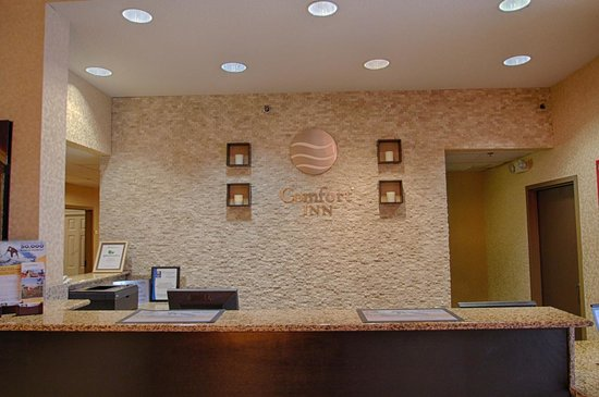 Comfort Inn Near Plano Medical Center : Inviting front desk reception