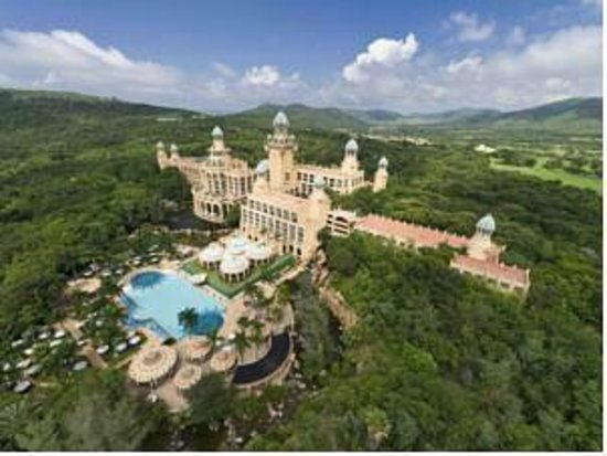The Palace of the Lost City : Arial Photo of the Lost City within Sun City