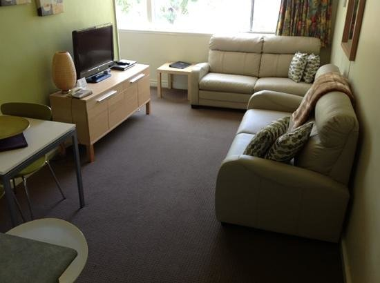 Birches Serviced Apartments: great size tv room