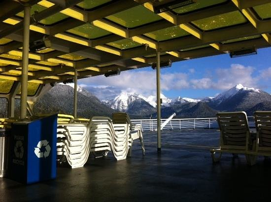 Alaska Marine Highway System - Day Cruises : Solarium in Winter