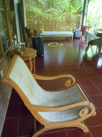 Bali Sandat Guest House: Just outside my room
