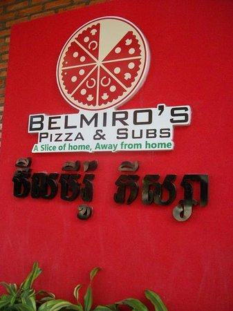 Belmiro's Pizza & Subs : Look for the logo on the brick wall... You'll know deliciousness is just one bite away!