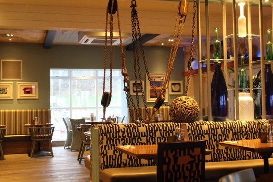 The Waterside Restaurant: part of the stunning decor