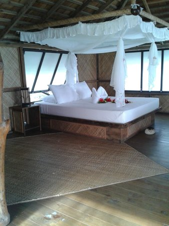 Tevahine Dream : il nostro bungalow:il letto