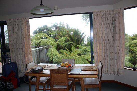 Hydrangea Cottages : Blick aus dem Wohnraum