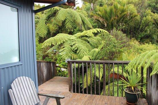 Hydrangea Cottages : Blick von der Terrasse