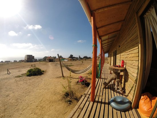 Hostal Pichilemu Casa Verde: Be sure to try out the slackline.