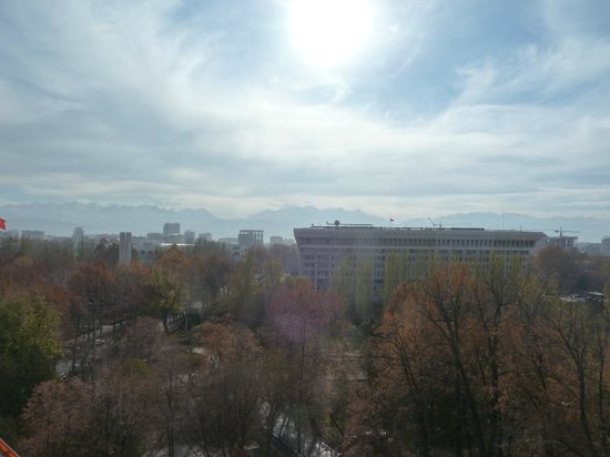 Panfilov Park: View from the top of the Ferris wheel