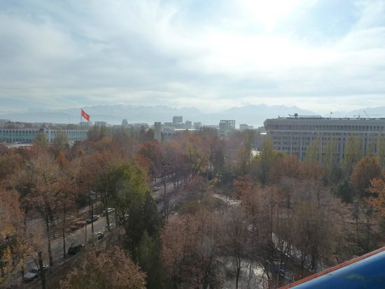 Panfilov Park: View of the mountains to the South from the top of the Ferris wheel