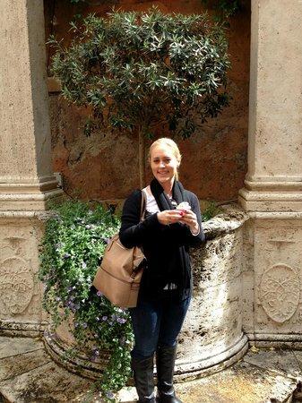 Hotel Columbus : My wife Nicole enjoying a gelato in the courtyard :)