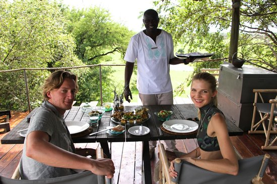 Singita Faru Faru Lodge: The famous meze fare lunch, with our favorite Paul.