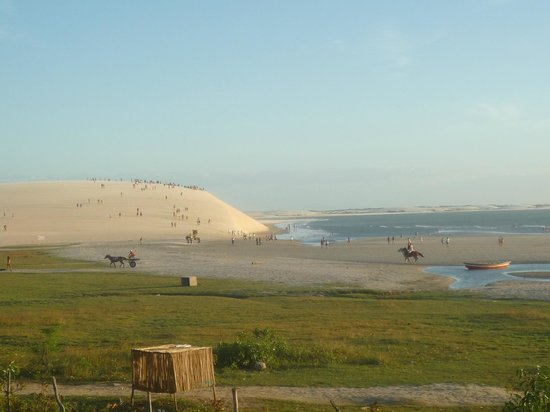 Casa na Praia: Vista dp por do sol trás dunas