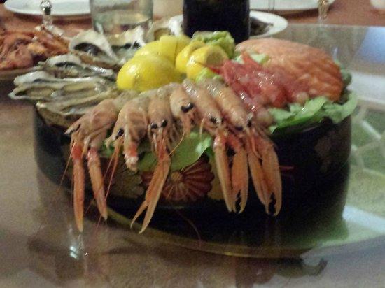 Trattoria Jubin : scampi sashimi e ostriche