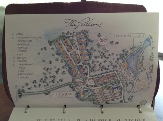 The Pavilions Phuket : Map of the resort