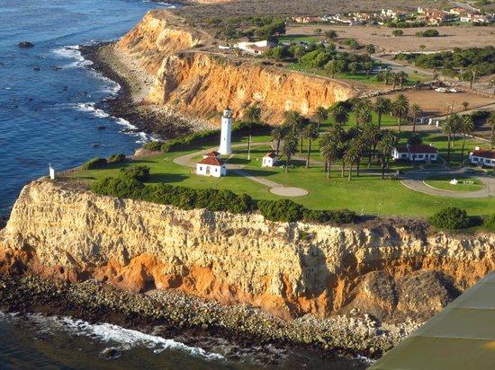 Point Vicente Lighthouse vanuit de lucht