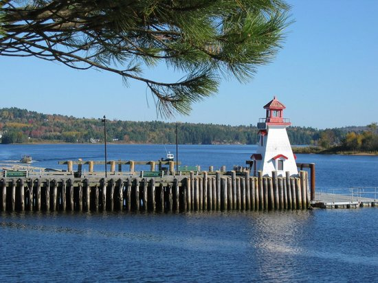 Lighthouse Town Wharf, St. Stephen, N.B. Canada