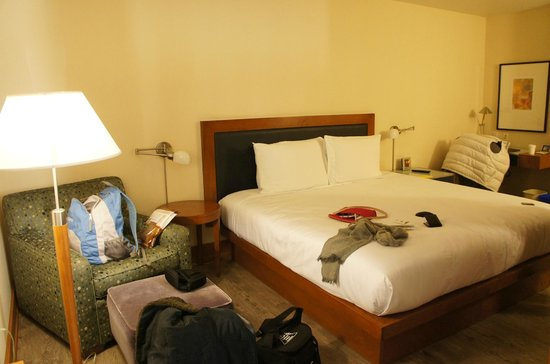 Watertown Hotel - A Piece of Pineapple Hospitality: Bedroom when you walk in.