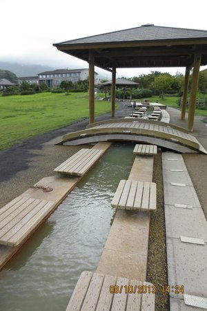 Sakurajima  Nagisa Foot Bath Park: long foot spa