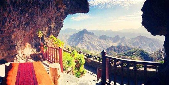 La Cilla Artenara: Вид с веранды в скале