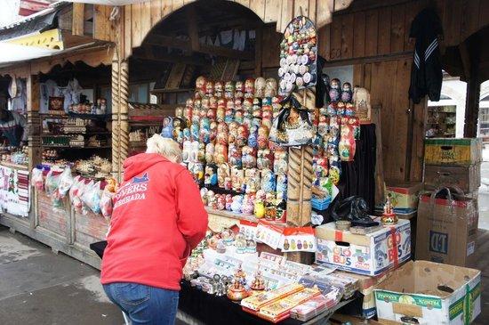 Izmailovsky Market : ここでマトリョーシカ買いました