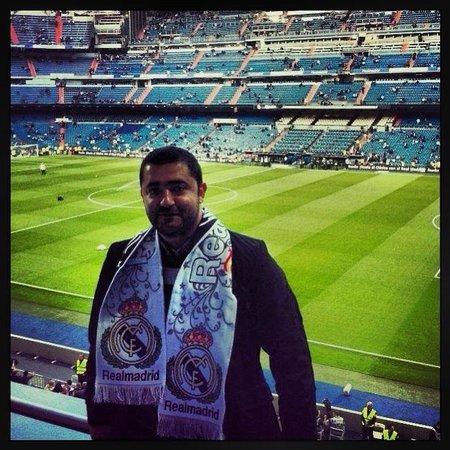 Estadio Santiago Bernabéu: Rabih Massaad inside the stadium Santiago Bernabeu before Real Madrid vs Valencia