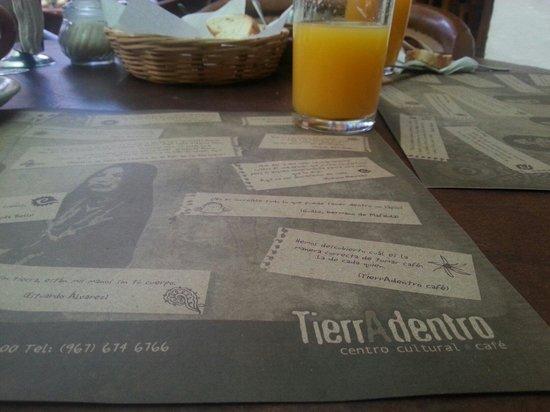 TierrAdentro: Restaurante Tierra Adentro