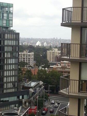 Cambridge Hotel Sydney: opera house from balcony