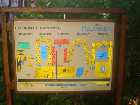 Decameron San Luis: plano