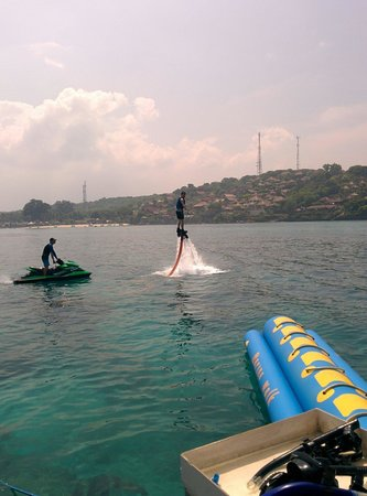 Sanur, Endonezya: Don't forget to try the new water jetpack. It was amazing.