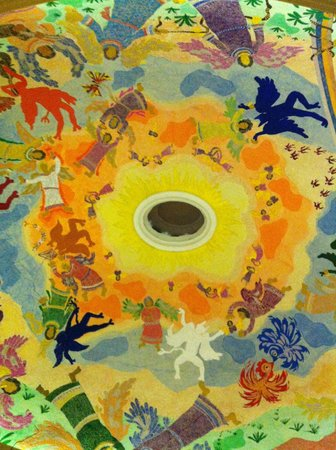 Quinta Real Monterrey : The dome in the hotel lobby. There is a story behind the late artist who painted it. Sadly I for