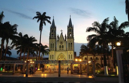 Catedral de Santa Isabel, in Malabo, on Bioko Island, capital of Equatorial Guinea. There are lot of examples of Spanish architecture from colonial days.