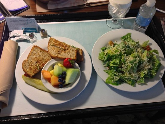 Hilton Garden Inn Salt Lake City Airport: BLT ordered from restaurant downstairs
