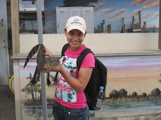 Everglades Holiday Park: Prendre une photo avec un bébé croco pour $5