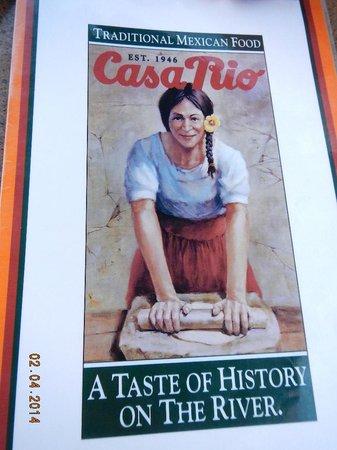 Casa Rio : menu