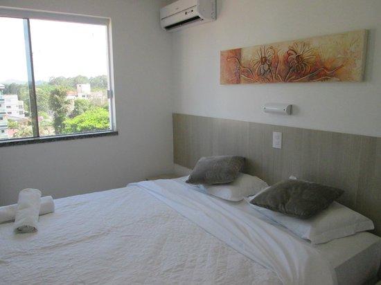 Hotel Canasvieiras Internacional - Florianopolis: the bed, air conditioning and nice decor