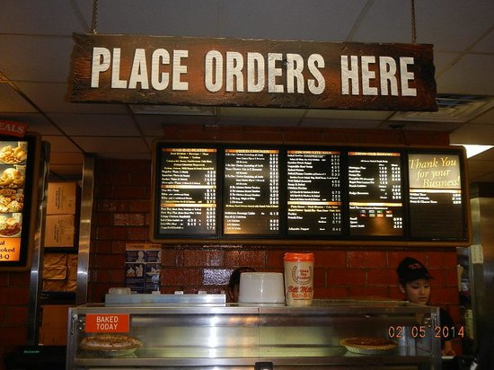 Menu board order counter picture of bill miller bar b q for Dining near at t center san antonio