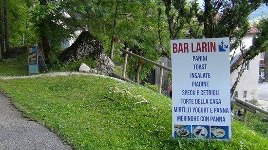 Hotel Al Larin: Il nostro bar vicino al bosco