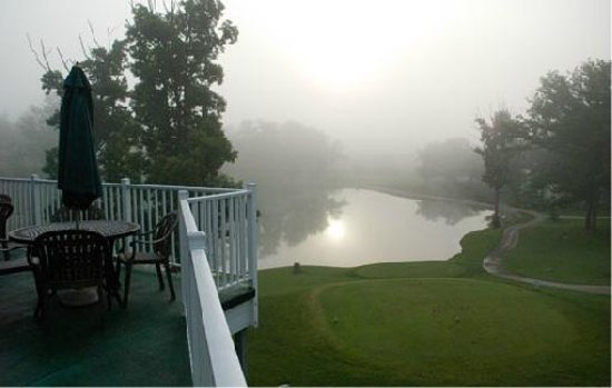 Bear Creek Valley Golf Club: View from the Restaurant Deck at Hole #1